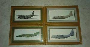 Lot 4  framed plane prints LOCKHEED USAF AC-130H Spectre Gunship F-4E  Phantom 2