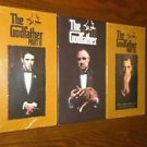 Factory Sealed LOT OF THE GODFATHER Part I, II, III VHS Video Tape 1997