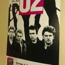 Rare U2 The Unforgettable Fire concert 1984 HAMBURG poster Edge Bono Larry Adam!