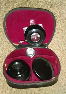 LENTAR TELEPHOTO AND WIDEANGLE LENS SET FOR POLAROID IN ORIG. CASE