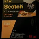 "Scotch Outdoor Industrial Strength Fastener Strip Holds 5 LBs, 1"" x 15' Black"