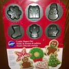 Wilton Christmas Cookie Shapes Pan, Non Stick, 12 Different Designs, EUC