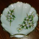 DOGWOOD Royal Albert type  NW-DW-54 GOLD RIMMED SCALLOPED SHELL CANDY NUT DISH