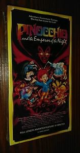 Pinocchio and the Emperor of the Night (VHS) Brand New Sealed  Rare