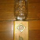 Vintage Candy Dispenser Mason Jar Nut Gumball Wood Rustic Primitive Folk Art
