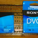 New sealed Sony DVM60PRR DVC Mini DV 60min Digital Video Cassette 3-Packs
