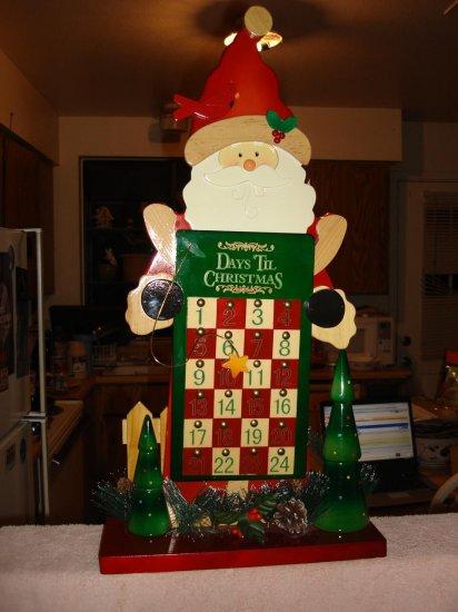 "Gorgeous 22"" tall Santa  Countingdown To Christmas Calendar"