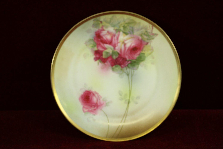 Antique Royal Munich Plate Roses Z S Amp C Bavaria