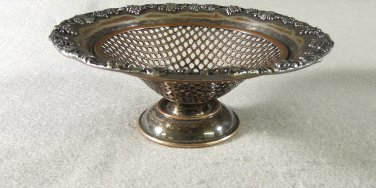 Sheffield Silver Plated Compote Grape Leave Lawrence Smith