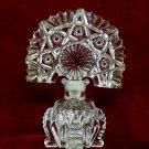 Vintage Art Deco Perfume Bottle Fan Hobstar Glass Stopper