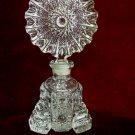 Vintage Art Deco Perfume Bottle Hobstar Topper Glass Stopper