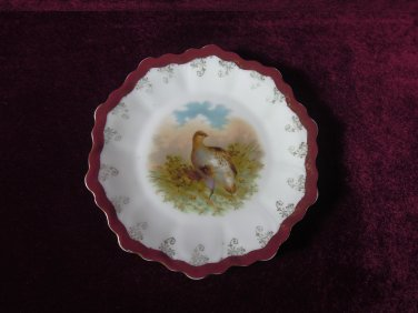 Royal Munich Game Plate Pheasant Colorful Collectible