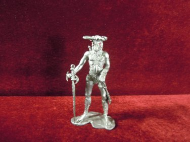Radcliffe Pewter Warrior Figurine with Sword 1980 retired collectible