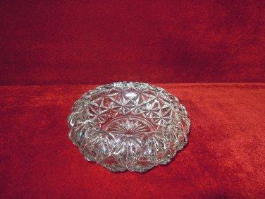 Mount Vernon Style Crystal Candy Dish Crisscross flower Radiant Star
