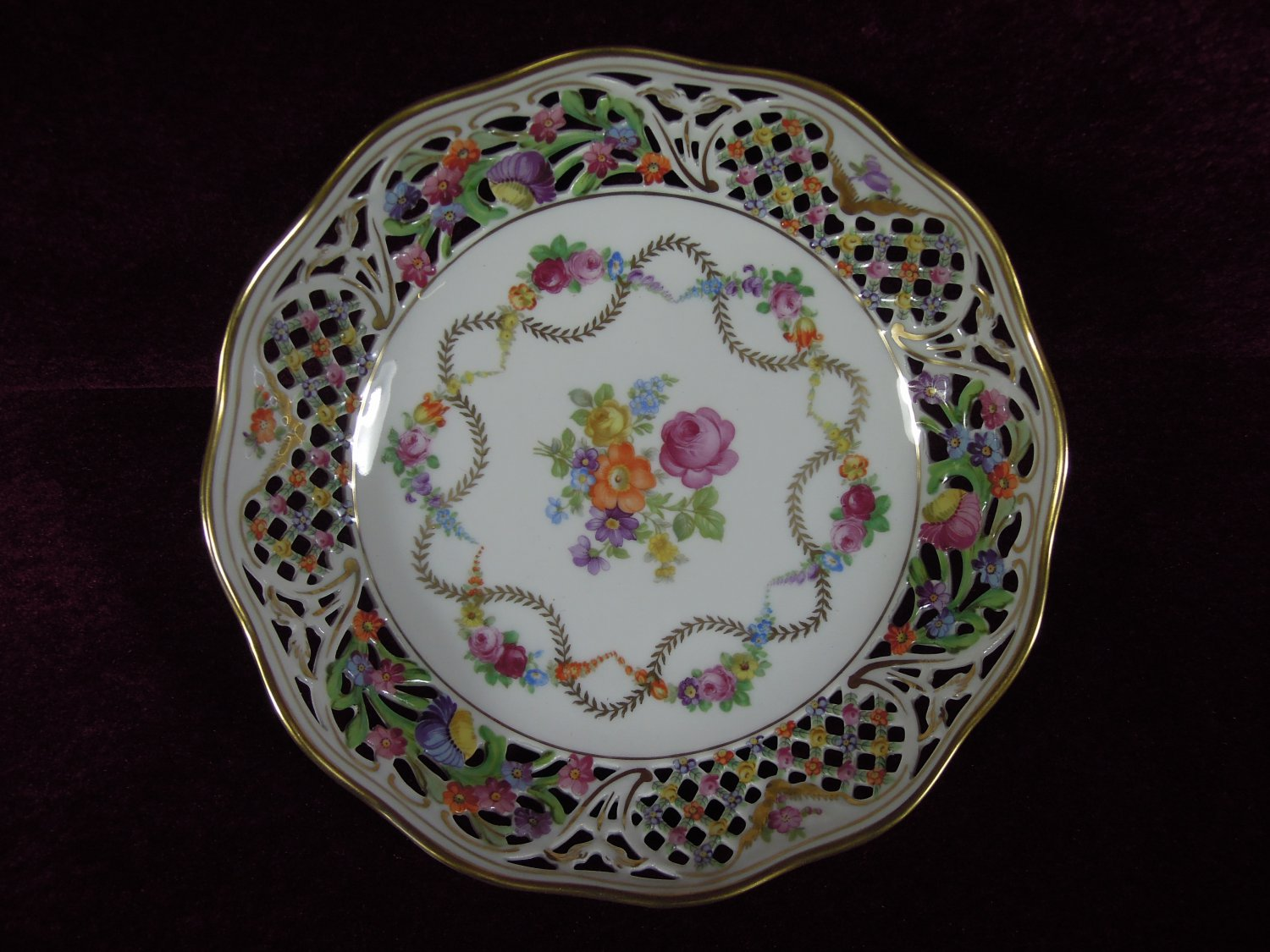 Schumann Arzberg Germany China Porcelain Reticulated Bowl
