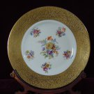 Gold Encrusted Floral Cabinet Plate Signed Czechoslovakia 3