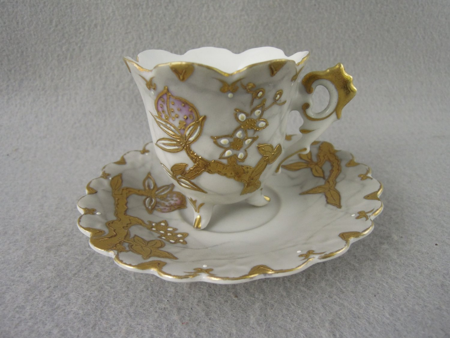 Vintage Shofu hand painted Tea cup and saucer gold trim