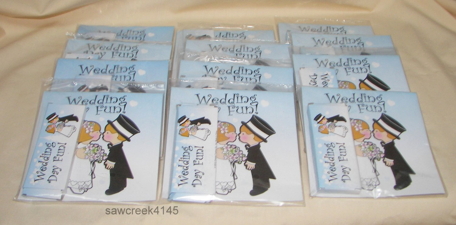 Lot of 12 CHILDRENS/KIDS WEDDING FAVORS**activity book & crayons**