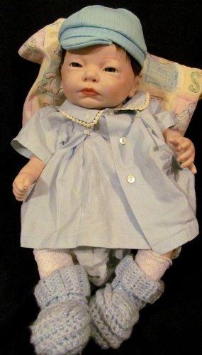 Scioto 85 Porcelain Doll Anatomically Correct Adorable Boy