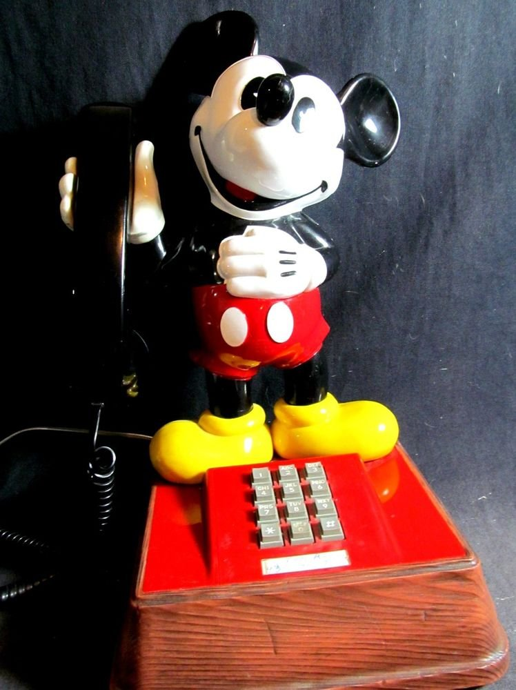 Mickey Mouse Phone Vintage Collectible Model Teif 8000