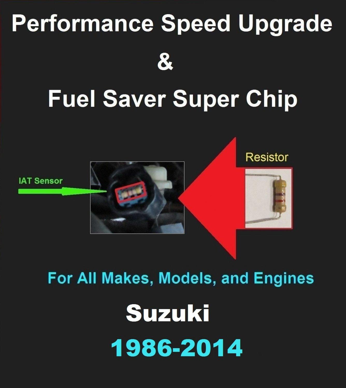 Suzuki Performance IAT Sensor Resistor Chip Mod Kit Increase MPG HP Speed Power Super Fuel Gas Saver