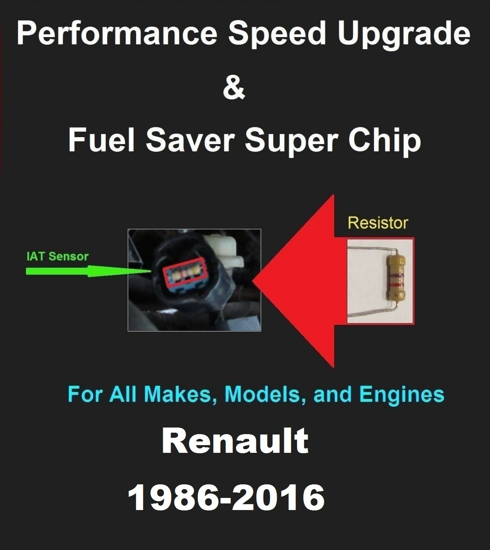 Renault Performance IAT Sensor Resistor Chip Mod Kit Increase MPG HP Power Super Fuel Gas Saver