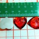 20 pcs Big Plastic Diamond Cut Red Colors Beads Stick on Cards Paper Art DIY2s