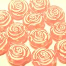 20 pcs Pink Color Big Rose Plastic Beads DIY66