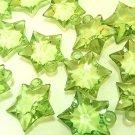 20 pcs Green 25mm Clear Arcylic Pendant Star DIY30