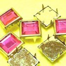 18 pcs Pin Bracelet Bag Purple Arcylic Square Beads DIY98