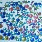 120 pcs Plastic Diamond Cut Colors Beads Stick on Cards Paper Art DIY245