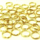 150 pcs Nickel Free Gold Tone 6mm Double Jump Rings DIY168