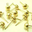 20 pcs Nickel Free Gold Tone Earring Studs DIY172