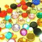 100 pcs Plastic Diamond Cut Colors Beads Stick on Cards DIY45