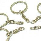 10 pcs Silver Tone Key Ring Keyring Keychain DIY46