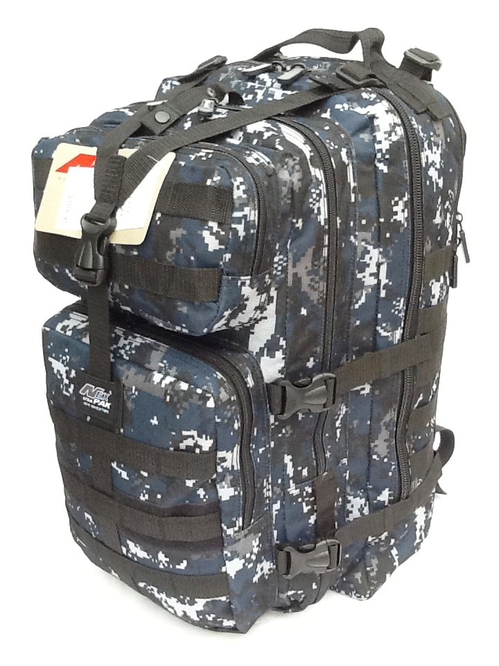 """21"""" 3400 cu.in. Tactical Hunting Camping Hiking Backpack ML121 DMBK (Navy Blue)"""