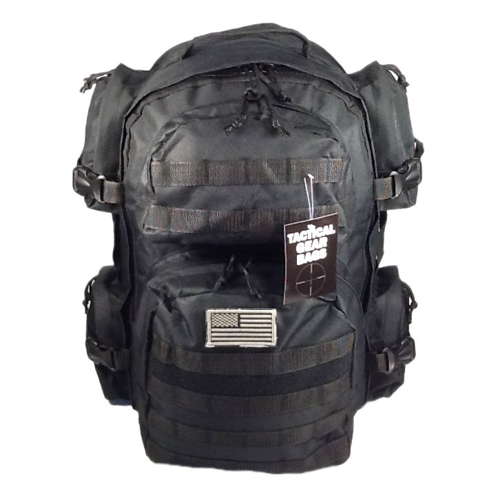 """18.5"""" 2000 cu.in. TACTICAL GEAR BAGS Hunting Camping Hiking Backpack TG720 BK"""