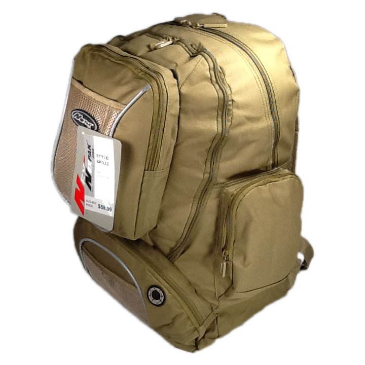 "19.5"" 2000 cu. in. NexPak Day Backpack BP023 TAN"