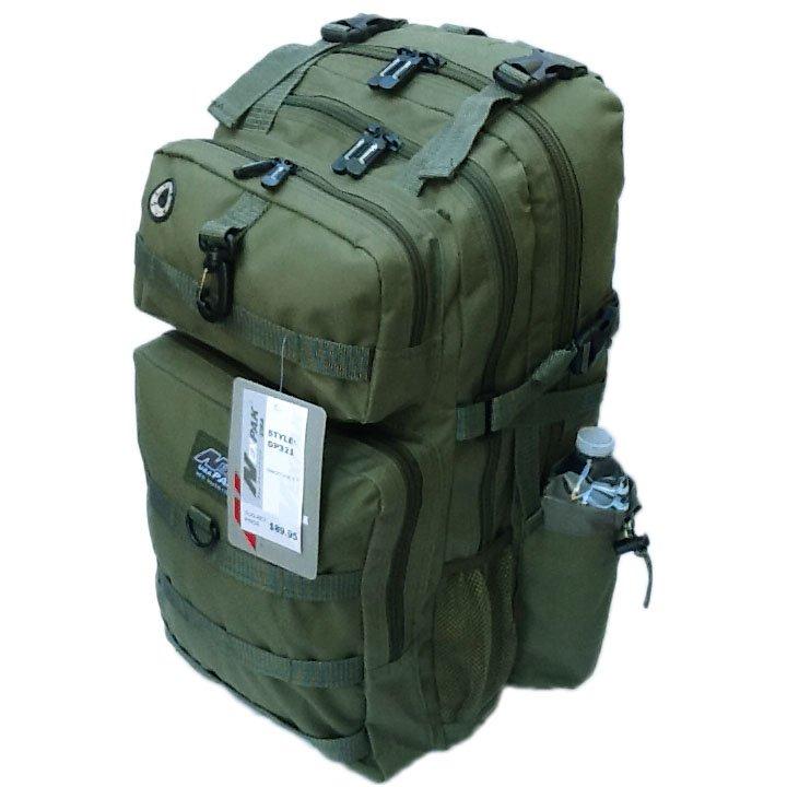 "21"" 2000 cu. in. NexPak Hunting Camping Hiking Backpack DP321 ODGN GREEN"