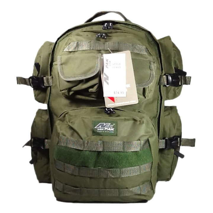 "18.5"" 2000 cu.in. NexPak Hunting Camping Hiking Backpack OP820 ODGN GREEN"