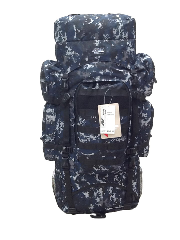 """34"""" 5200cu. in. NexPak Tactical Hunting Camping Hiking Backpack THB001 DMBK CAMO"""