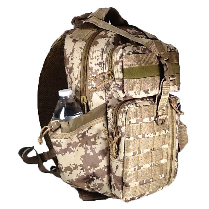 """18"""" 1200cu.in. NexPak Tactical Sling Shoulder Hiking Backpack TL318 DMTAN"""