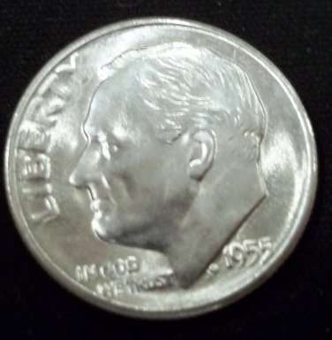 1955-S  Roosevelt Dime Roll Brilliant Uncirculated