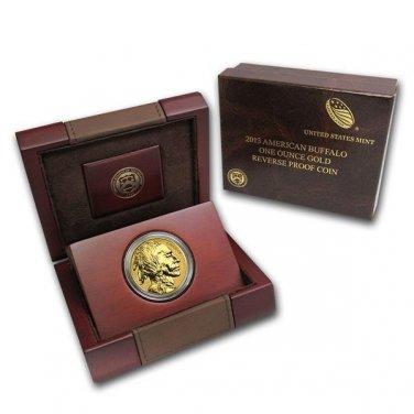 2013 BV1 $50 .9999 Fine 24 Karat  Reverse Proof Gold Buffalo Coin w/ Box And Coa