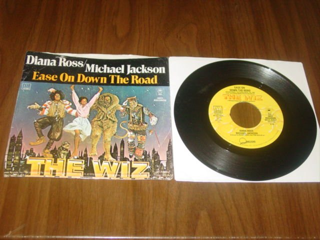 diana ross & michael jackson ease on down the road motown mca 45 sleeve 1978