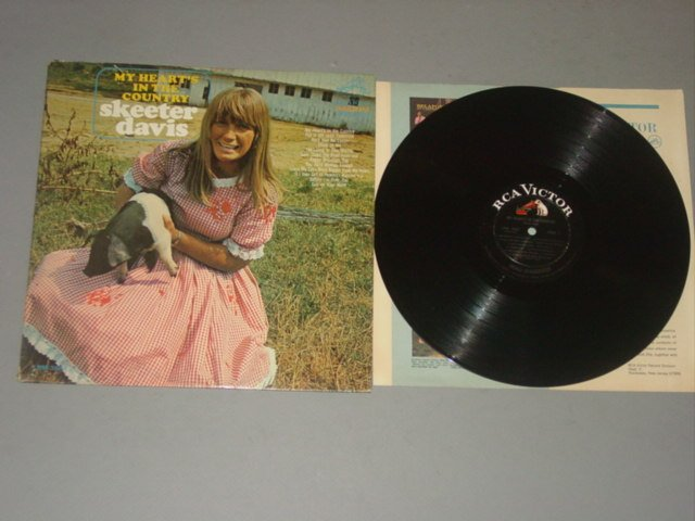 skeeter davis my heart's in the country rca victor lp 1966