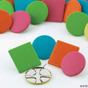 Tropical Jumbo Circle & Square Scrapbooking Brads