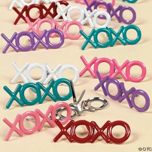 """XOXO"" Scrapbooking Brads in Beautiful Colors"