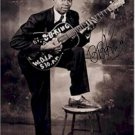 B.B. King Autographed Signed Young Black N White Poster