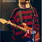 Nirvana Autographed Signed Kurt Cobain Red Sweater Poster